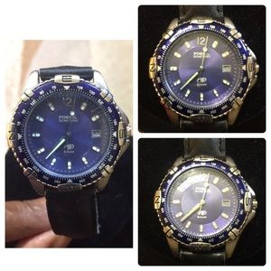 Authentic Fossil Blue wrist Watch.